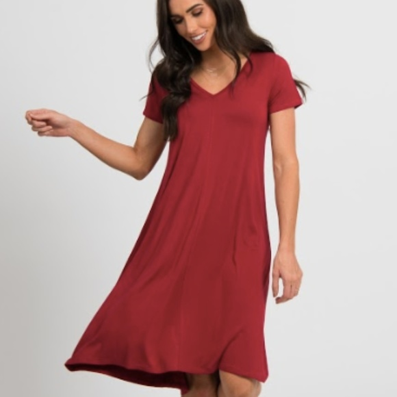 3afad56e7acd Agnes   Dora XS Hi-Lo Dress V-Neck Raspberry